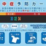 熱中症予防カードの表面イメージ写真