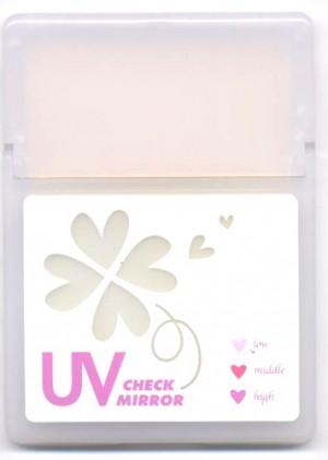 UVチェックミラー・あぶら取り紙付表面デザイン