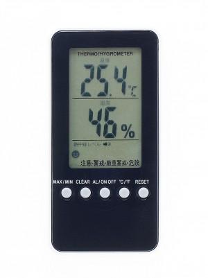 熱中症警告付き温湿度計の商品写真・正面