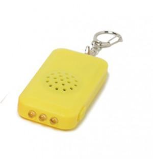 ライト付き防犯ブザー(フックタイプ)の商品写真・黄
