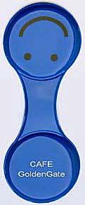 クリップマグネット(丸)の名入れ・青色の写真